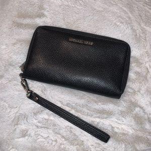 Michael Kors Black Wristlet Wallet